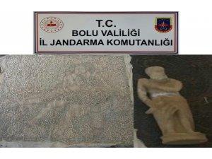 Bolu'da yolcu otobüsüne tarihi eser operasyonu: 1 gözaltı