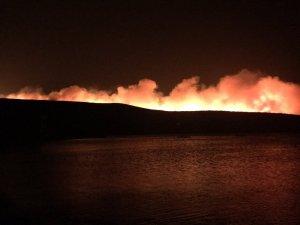 Çeşme'de yangın sebebiyle 4 site boşaltıldı