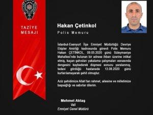 Emniyet Genel Müdürü Aktaş'tan şehit polis memuruna başsağlığı mesajı