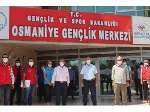 Ulusan, Osmaniye'deki gençlik merkezlerinde incelemelerde bulundu
