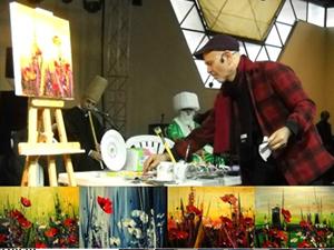 Ressam Hikmet Çetinkaya'dan canlı performans