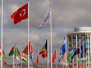 Soçi'de Türk bayrağı dalgalanıyor