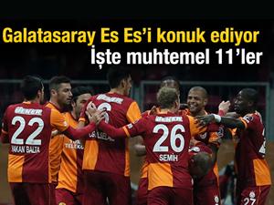 Galatasaray - Eskişehirspor muhtemel 11'ler
