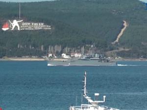 İki Rus gemisi Çanakkale Boğazı'ndan geçti