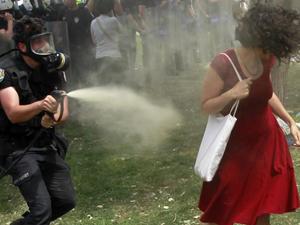 'Gezi protestolarındaki sprey İtalya'da'