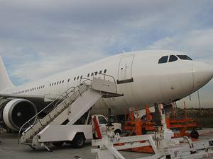 Kredisi ödenemeyen uçak satılığa çıkarıldı