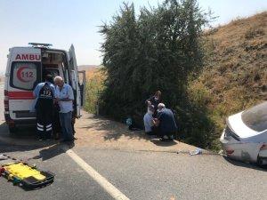 Otomobil yoldan çıktı: 2'si ağır 5 yaralı