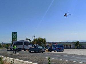 Balıkesir'de trafik helikopterle havadan denetlendi