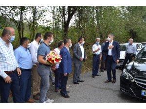 Bozkurt'a çiçekle karşılama yapıldı