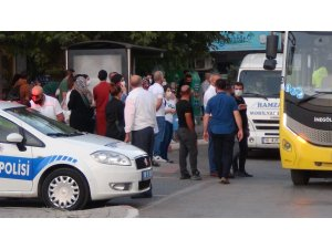 Otobüslere mesafe geldi, yolcular durakta kaldı