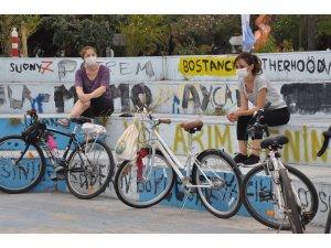 İstanbul'da ulaşımda korona virüsüne karşı gönüllü bisiklet elçileri