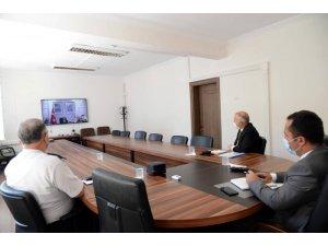 Vali Şentürk, Bakan Soylu'yla video konferans yoluyla görüştü