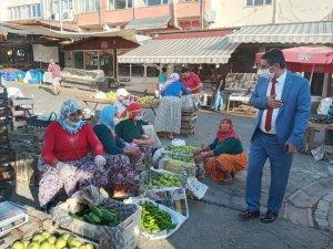Başkan İnal'dan pazar ziyareti