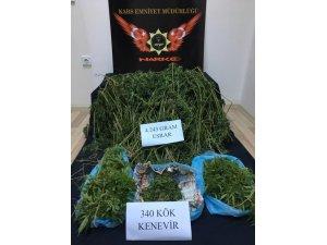 Kars'ta 4 kilo 243 gram esrar ele geçirildi