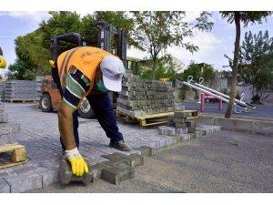 Yeni Şakran'da sokaklar yenileniyor