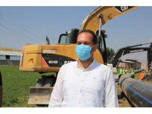 Covid-19'u Atlatan Başkan Özdemir asbestli boruların değiştiği alanlarda inceleme yaptı