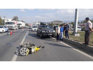 Bolu'da ciple çarpışan motosiklet sürücüsü 20 metre sürüklendi