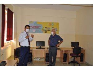 İlçe Milli Eğitim Müdürü Gümüş'ten EBA Destek Noktaları'na ziyaret