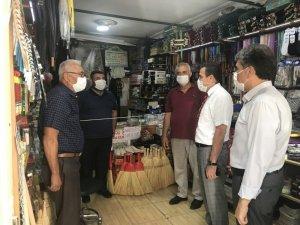Burhaniye'de Kaymakam Memiş koronavirüs denetimine katıldı