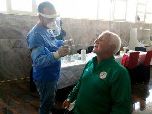 Karaköprü Belediyespor futbolcularına korona virüs testi