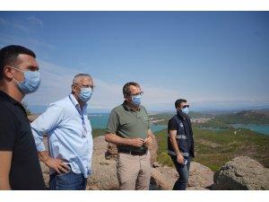 """Ayvalık Belediye Başkanı Ergin: """"Yanan alanların bir karışını bile aç gözlü rantçılara teslim etmeyiz"""""""