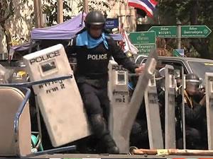 El bombası polisin önünde patladı
