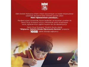 Sivasspor'dan öğrencilere 1058 adet tablet desteği