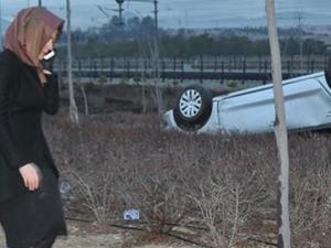 Kayseri'de otomobil yoldan çıktı: 1 ölü