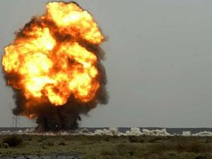 Sınır kapısında patlama