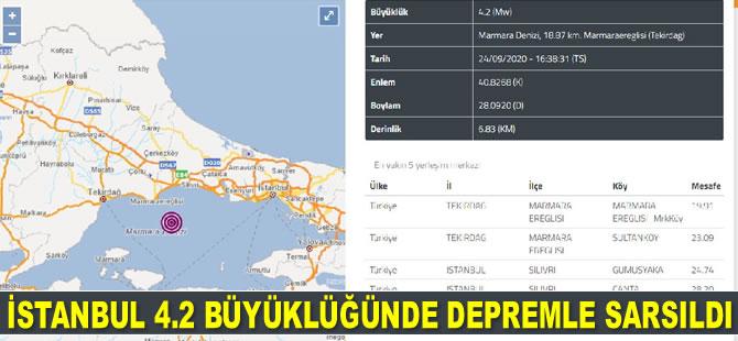 İstanbul 4.2 büyüklüğünde depremle sarsıldı