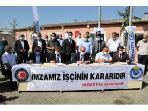 Başkan Akman işçinin hakkını işçiye teslim etti