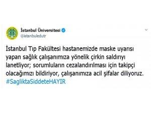 İstanbul Üniversitesi'nden saldırıya kınama