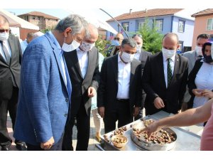 Düzce'nin meşhur kestanesi Bakan Yardımcısı Alpaslan'a ikram edildi
