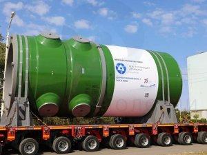 Atommaş fabrikasında üretilen reaktör 12 metre uzunluk ve 330 ton ağırlığa sahip.