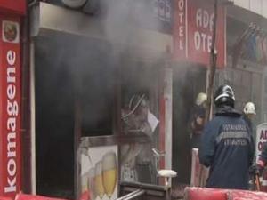 İstanbul'da türkü barda yangın çıktı