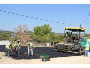 Terzialan beldesinde sıcak asfalt çalışması