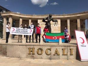 Genç Kızılay'dan Azerbaycan'a destek mesajı