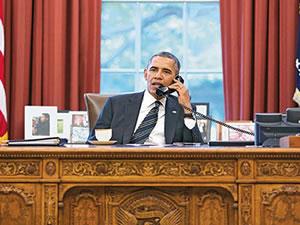 Barack Obama 3 liderle teelfonda görüştü