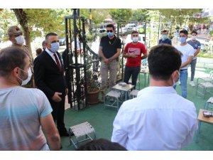 Siirt Valisi Hacıbektaşoğlu, korona virüs denetimlerine katıldı