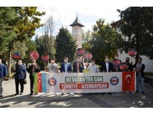 """Başkan Gönen: """"Dost ve kardeş ülke Azerbaycan'ın yanındayız"""""""