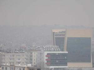 Gaziantep'te gökyüzü griye boyandı