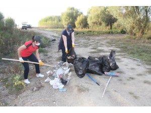 Beyşehir'de doğal alanlardan 315 poşet çöp toplandı