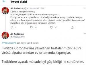 """Burdur Valisi: """"Vakaların yüzde 65'i virüsü akrabalarından kapmışlardır"""""""