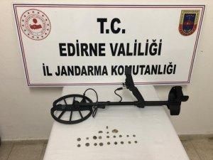 Edirne'de izinsiz kazıya suçüstü