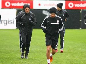 Beşiktaş'ta moralli idman