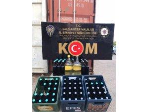 Sahte alkol üretenlere operasyon: 1 gözaltı