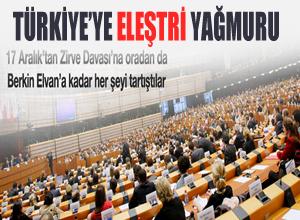 AP'de Türkiye'ye eleştiri yağmuru!