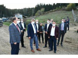Vali Gürel, Uluyayla'da incelemelerde bulundu