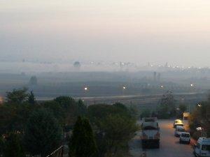 Manyas'ta sis etkili oluyor