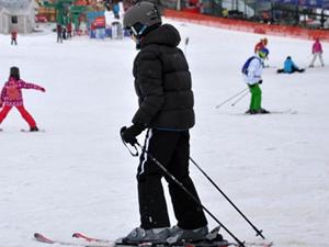 Erciyes'te Nisan'da kayak keyfi